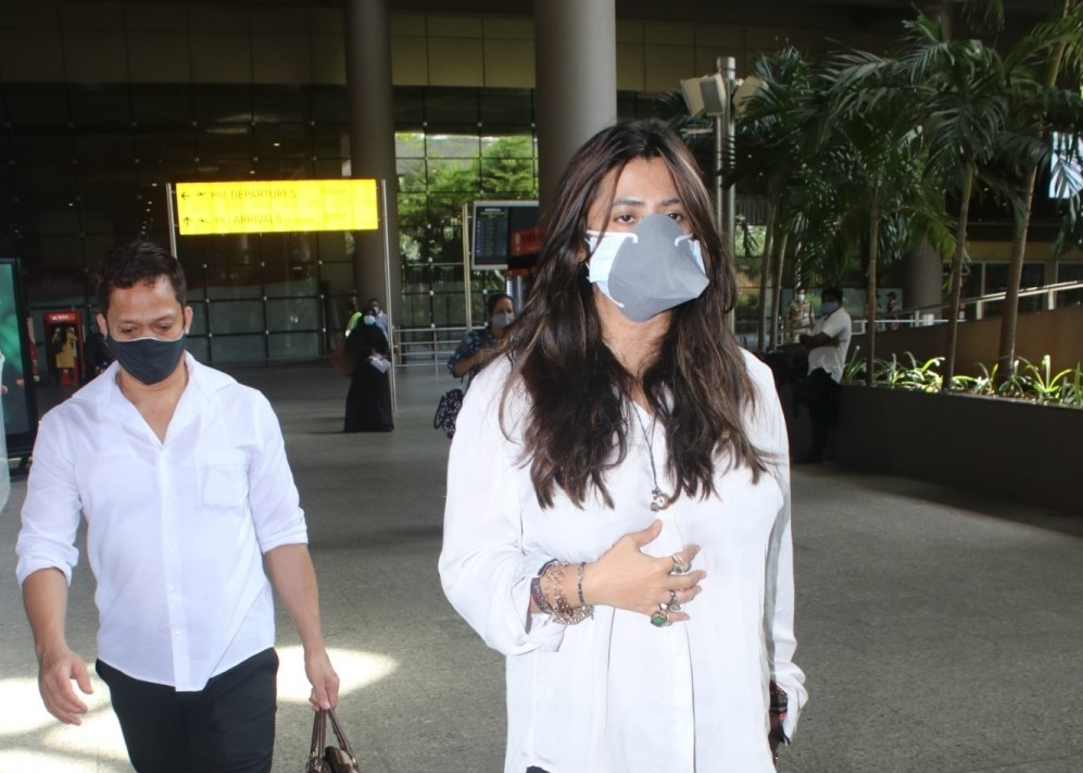 Ekta Kapoor Spotted At Airport Arrival.
