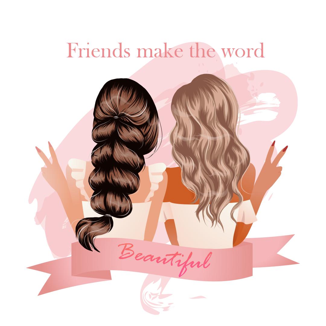 Friends Make The Word Beautiful
