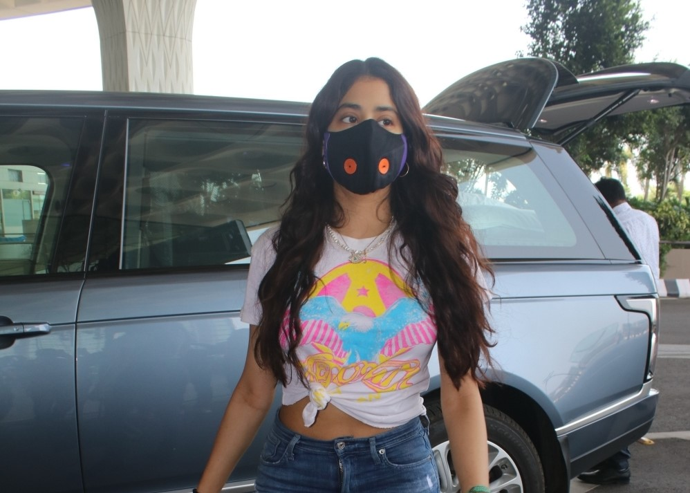 Janhvi Kapoor Spotted at Airport Departure