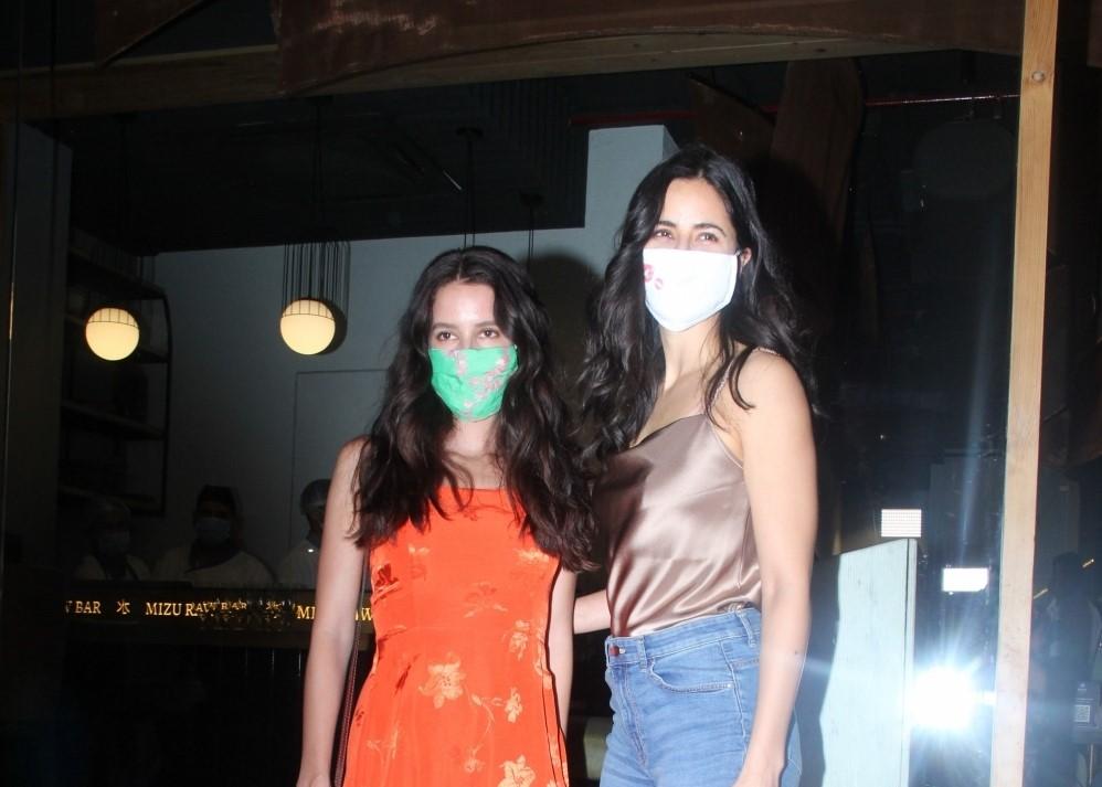 Katrina Kaif & Sister Spotted at Mizu In Bandra