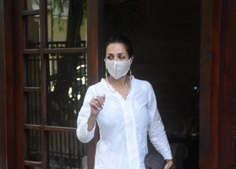 Malaika Arora spotted at her house in Bandra