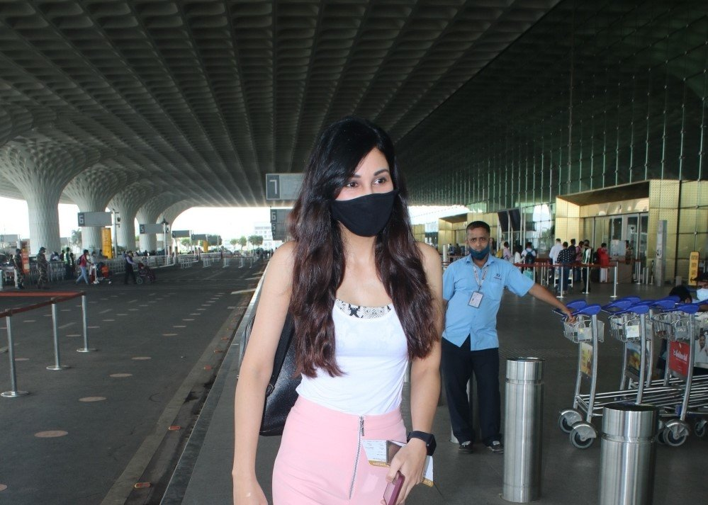 Pooja Chopra spotted at airport departure