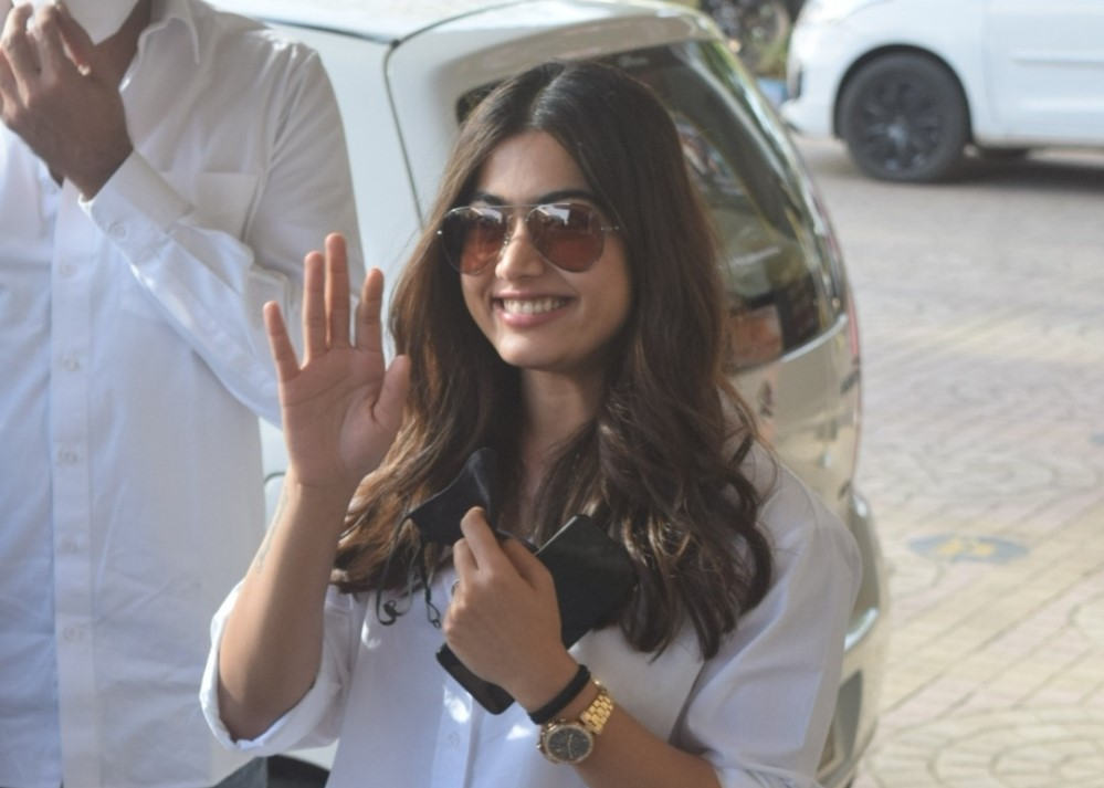 Rashmika mandana spotted at PVR in Andheri