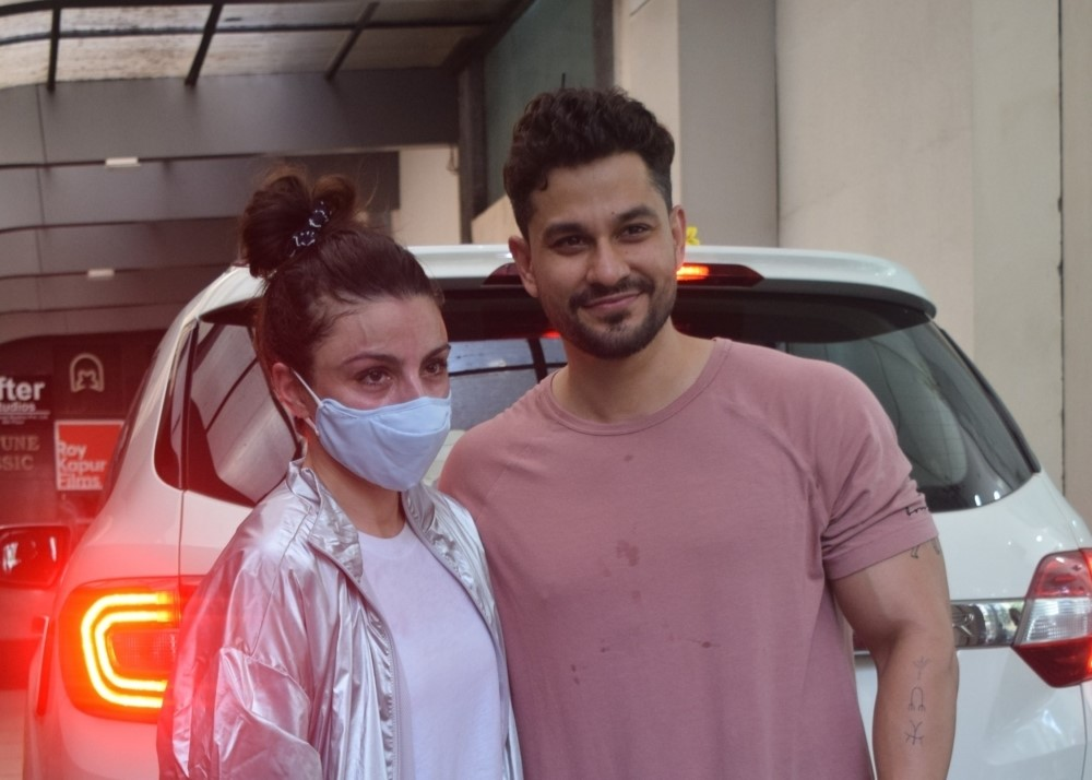 Soha and kunal spotted at Gym in Bandra