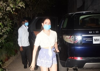 Tamanna Bhatia spotted at clinic in Bandra