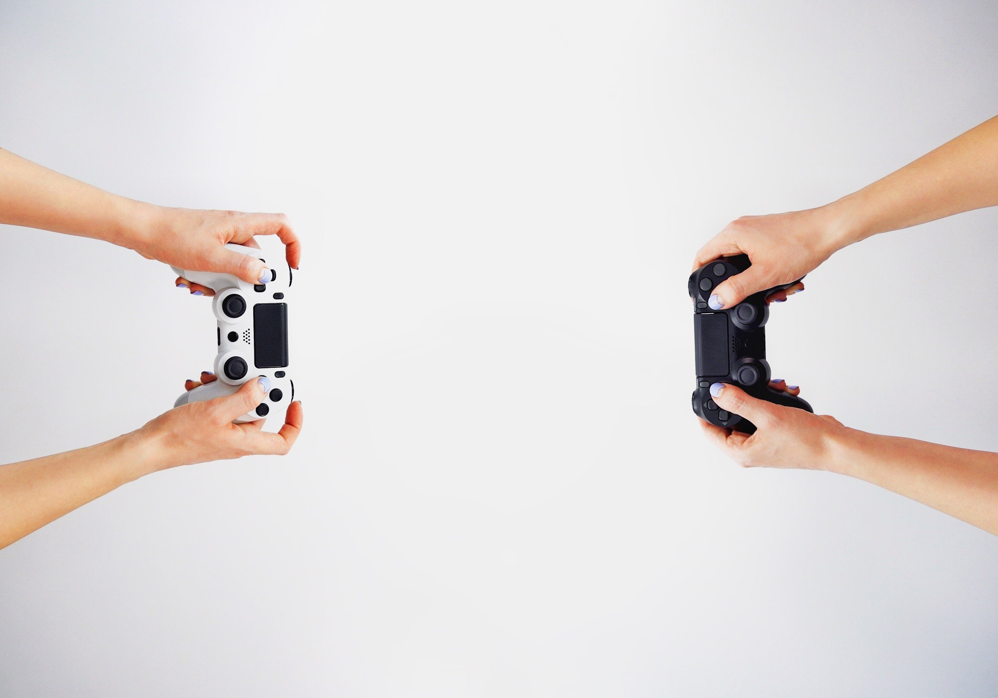 Gamepad in hand. Video games. Gamer. Game contest
