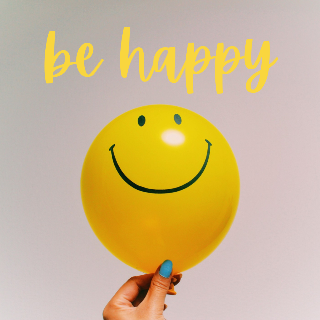 Be Happy...Keep Smiling...Holding Smiley Balloon