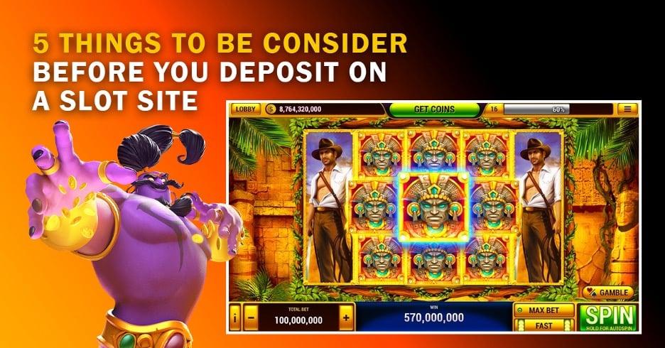 Deposit on a Slot Site