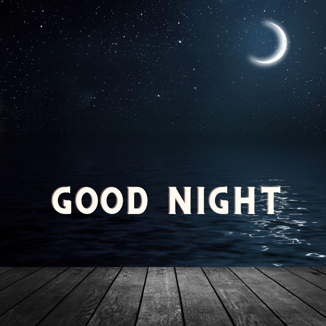 Good Night partial moon